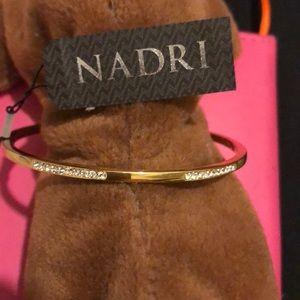 Nadri Pave Crystal Bangle Bracelet NWT